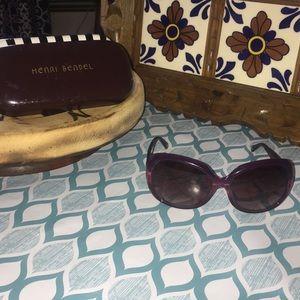 Henri Bendel Pink Sunglasses with Case
